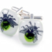 buzz lime cufflinks